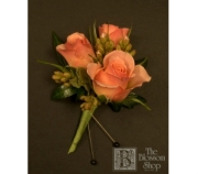 Pale Pink Spray Rose Boutonniere