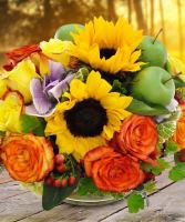 Midwood Flower Shop Golden Harvest Centerpiece
