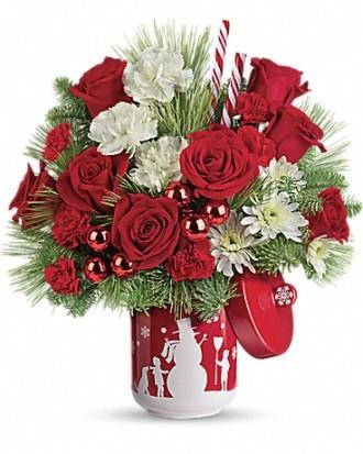 Tele flora\'s Snow Day Bouquet