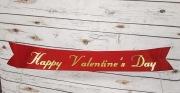 Custom Valentine's Day Script On Ribbon