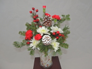 Christmas Candle Bouquet