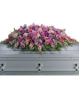 Teleflora's Lavender Tribute Casket Spray
