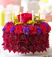 Flower Cake  Purple