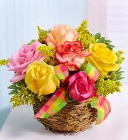 Birds Nest Basket of Roses