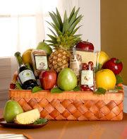Abundant Fruit & Gourmet Deluxe Gift Basket