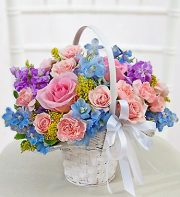 Spring Flower Girl Basket