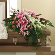 In Her Honor Casket Spray
