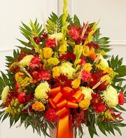 Sympathy Funeral Basket-Mixed Flowers