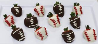 Football & Baseball Strawberries
