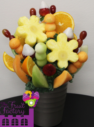 Pineapple Daises Bouquet with Chocolate