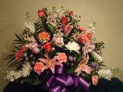 Pink Funeral Basket