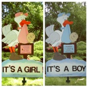 Stork Birth Announcement Lawn Sign