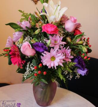 NCF Pink Vase Arrangement