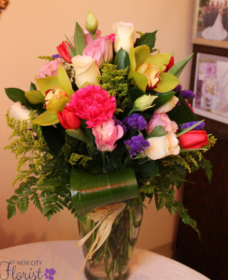 Orchid & Rose Vase