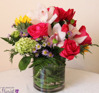 Cylinder Vase Bouquet