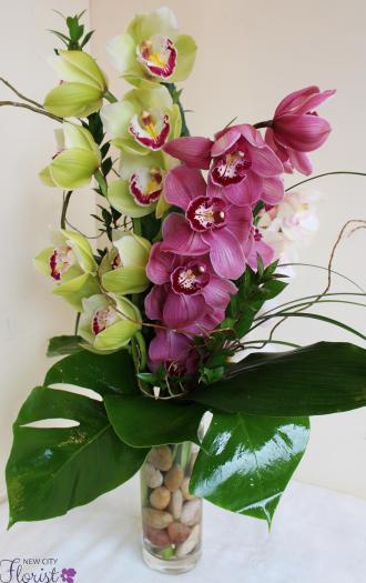 Triple Orchid Vase