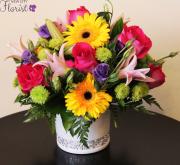 Pink & Yellow Vase