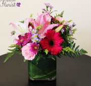 Pink Cube Vase