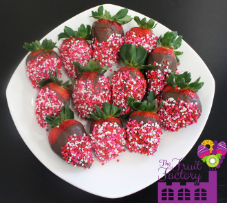 Heart Covered Strawberries