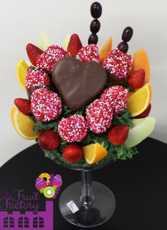 Pineapple Heart Strawberry Margarita