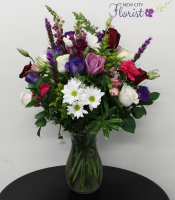 White & Purple Assorted Vase