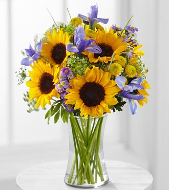 Sunflowers & Iris Bouquet