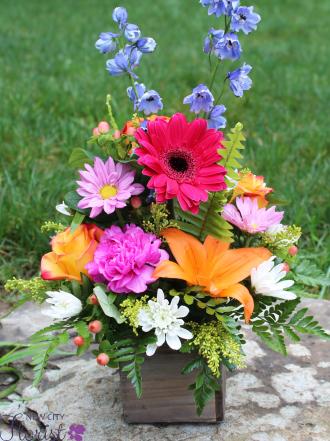 Assorted Wood Cube Vase