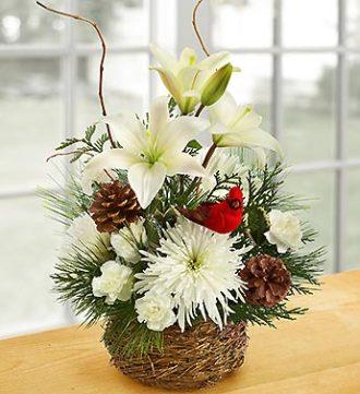 Bird\'s Nest of Flowers Basket