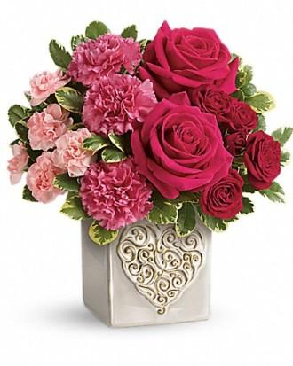 Swirling Heart Bouquet