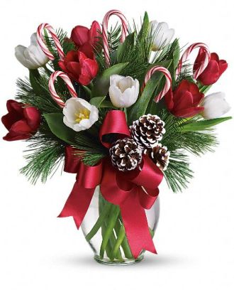Christmas Tulip Bouquet