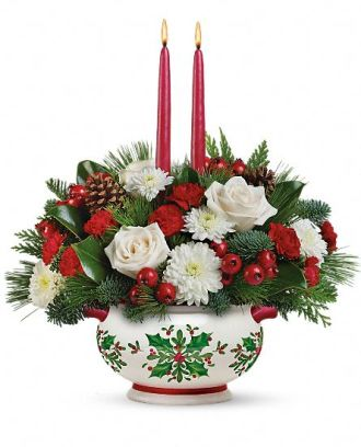 Teleflora\'s Holly Days Centerpiece