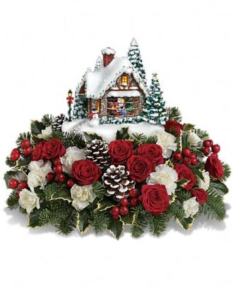Thomas Kinkade\'s A Kiss For Santa by Teleflora