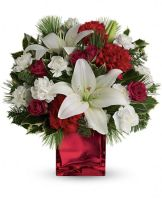 Red cube Vase Arrangement