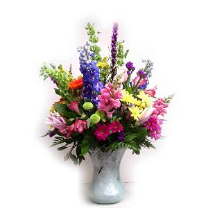 Large Vase of Fancy Flowers