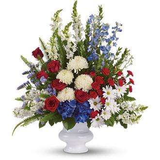 Patriotic Funeral Basket