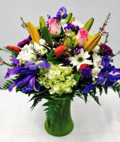 Florist Designed Bouquet in Vase