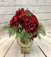 SILK HOLIDAY HYRANGEA ARRANGEMENT