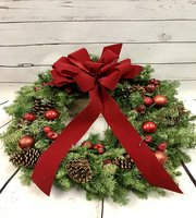 NATURAL WINTER GREEN WREATH