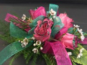 Glitz Spray Rose Corsage