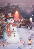 Snowman Barn LED