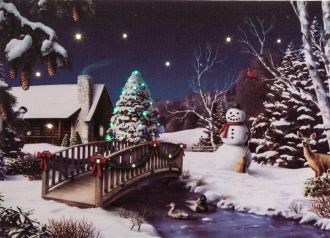 Snowman Scene Tabletop LED