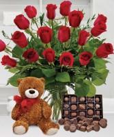 Beary Sweet Roses