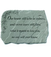 Our hearts still ache in sadness... Stone