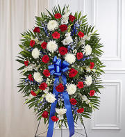Red, White & Blue Sympathy Standing Spray
