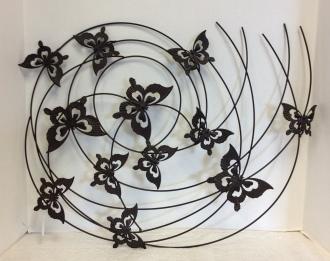 Butterfly Swirls Wall Plaque