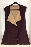 Ladies Long Brown Vest