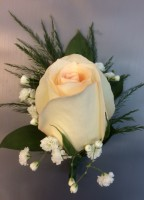 Rose Boutonniere w/Ribbon