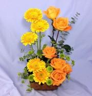 Roses and Gerberas