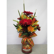 Large Yankee Candle With Fresh Flowers
