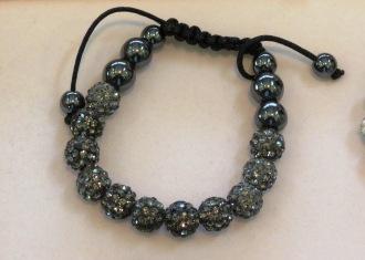 Swarovski Crystal Shamballa Bracelet - Grey